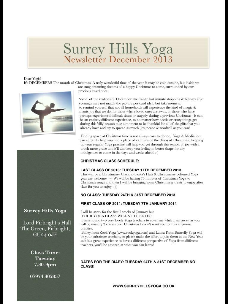 image 768x1024 Surrey Hills Yoga December Newsletter 2013: