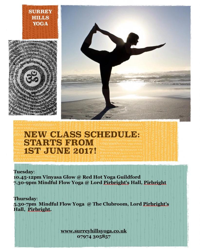New Class Schedule June 2017